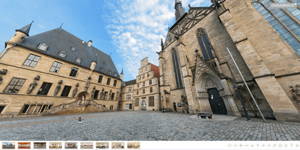 Digitale Kulturangebote in Osnabrück - Screenshot digitale Rathausführung