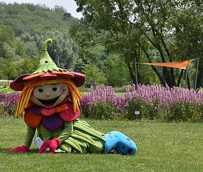 RosaLotta ist das Maskottchen der Landesgartenschau 2018 in Bad Iburg