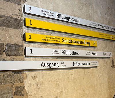 Besucherleitsystem in der Gedenkstätte Augustaschacht