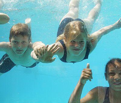 Kinder unter Wasser - Panoramabad Georgsmarienhütte