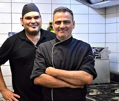 Gaetano De Ceglie und José Hernandez in der Küche vom Restaurant