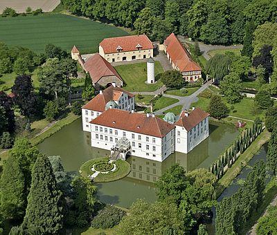 Luftaufnahme Schloss Hünnefeld in Bad Essen