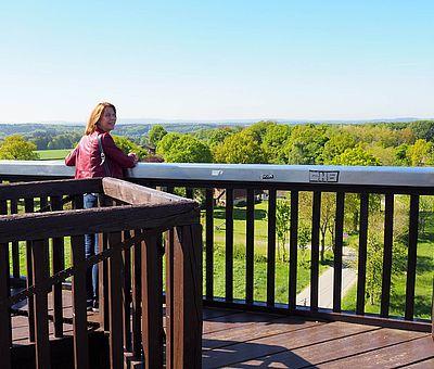 Aussicht vom Aussichtsturm in Venne: das Osnabrücker Land und weiter