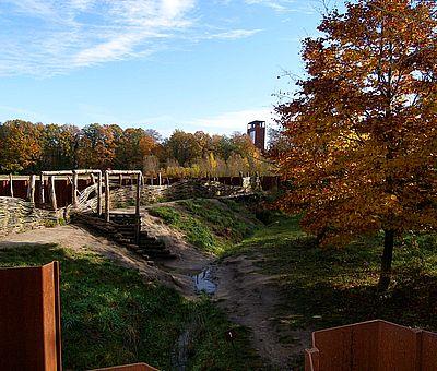 Ein strategisches Bauwerk zur Abwehr der Römer im Museum und Park Kalkriese