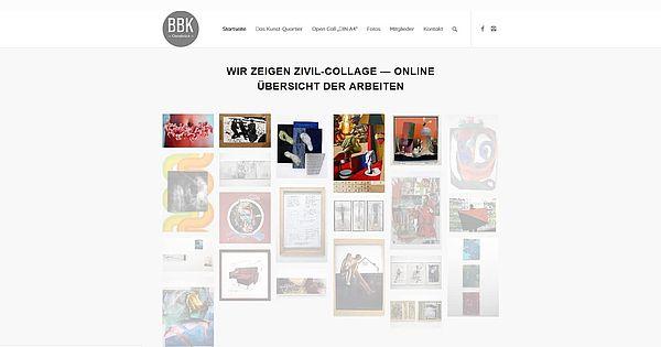Digitale Kulturangebote in Osnabrück - Screenshot Homepage BBK Kunstquartier Osnabrück