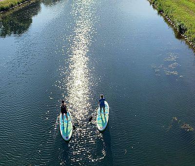 Stand Up Paddling auf dem Kanal in Osnabrück