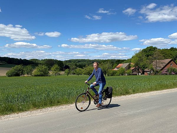 Radfahren auf der Bahnroute Teuto Senne im Osnabrücker Land