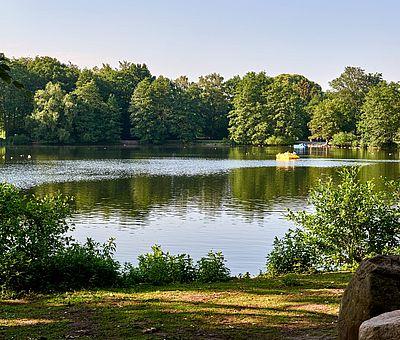Die Osnabrücker Rund-Tour verknüpft einige der besten Ausflugsziele der Friedensstadt Osnabrück mit reizvollen Naturerlebnissen im UNESCO Natur- und Geopark TERRA.vita. Zu den Highlights der 48 km langen kompakten Radrundfahrt im Osnabrücker Land gehört auch der Rubbenbruchsee.