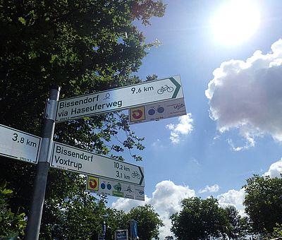 Gut ausgeschilderte Radtouren im Osnabrücker Land.