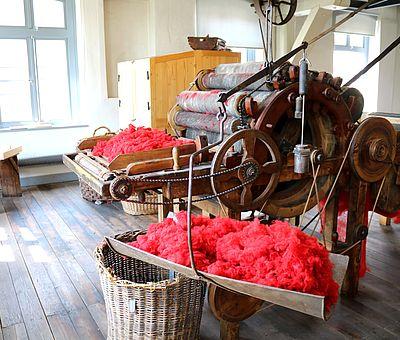 Im Tuchmacher Museum Bramsche wird die Geschichte der Textilproduktion spannend erzählt.