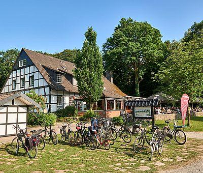 Die Osnabrücker Rund-Tour verknüpft einige der besten Ausflugsziele der Friedensstadt Osnabrück mit reizvollen Naturerlebnissen im UNESCO Natur- und Geopark TERRA.vita. Zu den Highlights der 48 km langen kompakten Radrundfahrt im Osnabrücker Land gehört auch das Café am Rubbenbruchsee.