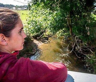 Das Flüsschen Düte ist nach der Hase das zweitgrößte städtische Fließgewässer.