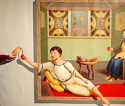 """Mit verblüffenden 3D-Effekten gelingen bei der aktuellen Ausstellung """"Zoom Dich in die Römerzeit"""" im Museum und Park Kalkriese erstaunliche Fotos."""